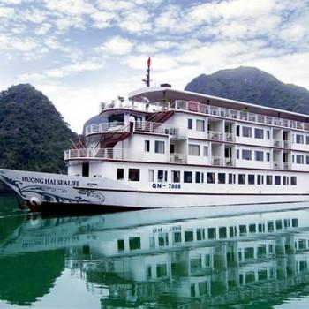 Du Lịch Hạ Long trên tàu HƯƠNG HẢI SEALIFE 5* ( 2N1Đ)