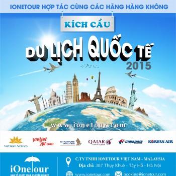CHÙM TOUR DU LỊCH QUỐC TẾ 2015
